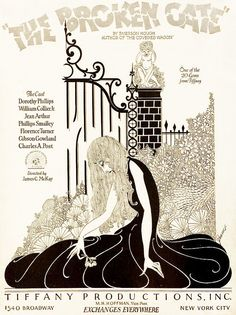 The Broken Gate (1927). #vintage #1920s #movies #posters #illustrations