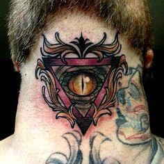 #triangle #tattoo #eye