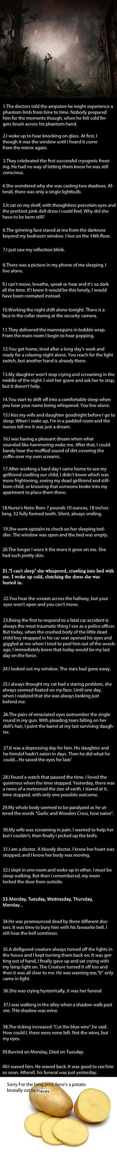 40 Short Scary Stories. - 9GAG