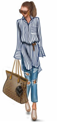 Simple and elegant Fashion Figures, Fashion Dolls, Fashion Art, Girl Fashion, Womens Fashion, Fashion Illustration Sketches, Art And Illustration, Fashion Sketches, Illustrations