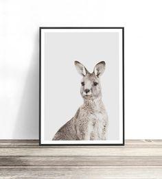 Kangaroo Print Australian Wall Art Australian Animal Art | Etsy Highland Cow Print, Bullet Journal Lettering Ideas, Cow Art, Coastal Wall Art, Australian Animals, Beach Art, Detailed Image, Artwork Prints, Fine Art Paper