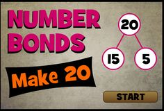 Number Bonds supports Grade 1 and Grade 2 Common Core Math Standards in Operations and Algebraic Thinking. Math Logic Games, Math Games For Kids, Math Facts, Kids Math, Number Bond Games, Number Bonds, Addition And Subtraction, Subtraction Games, 1st Grade Math