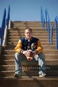 Senior Picture Ideas For Guys Football - Bing Images---maybe the stairs at the SMAC?