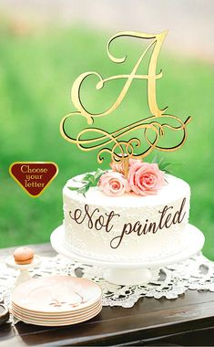 letter a cake topper wedding cake topper gold initial cake monogram cake rustic cake