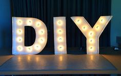 DIY Marquee Letters are a fun project and useful for parties, home decor and more. This is an easy, cheap and cool craft to do.