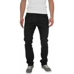 Urban Classics Straight Fit Jeans in Black Raw Jeans Fit, Black Jeans, Outfit Of The Day, Ootd, Urban, Classic, Fitness, Pants, March