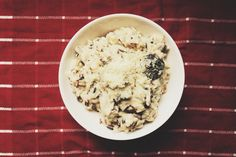Mushroom risotto. @sther_re
