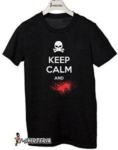"t-shirt ""Keep calm and .......""-todas las tallas by tshirteria Camiseta para mujer negro Talla:XL (9-11 años) #regalo #arte #geek #camiseta"