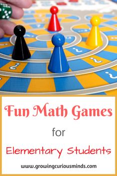 The best way to learn Math is by doing Math. If your child is bored with Math, try these 6 fun math games that will get them to fall in love with Math. #funmathgames #elementary #homeschool via @growingcuriousminds