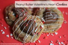 My mom's recipe for homemeade peanut butter cookies!  Valentine Day Dessert Recipes: Peanut Butter Valentine Heart Cookies