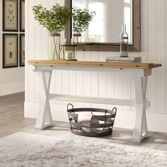 """Birch Lane™ Heritage Guillelmina 57"""" Solid Wood Console Table"""