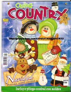 (via Painting on Wood-Country Christmas Crafts) Tole Painting, Painting On Wood, Paw Patrol, Christmas Books, Christmas Crafts, Country Christmas, Magazine Crafts, Pintura Country, Country Paintings