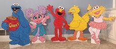 ONE 2ft Sesame Street Character by supercutecutouts on Etsy