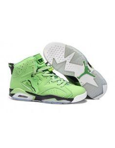 80e0b6ad3792f Men Black Green and White Michael Retro 6 Jordan Sport Trainers Nike Air  Jordan 6