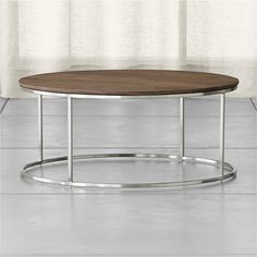 Frame Round Coffee Table | Crate and Barrel