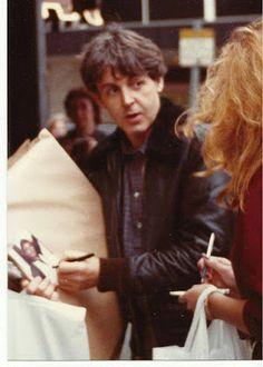 September 24, 1982 outside of Air Studio by Janet Merrill.