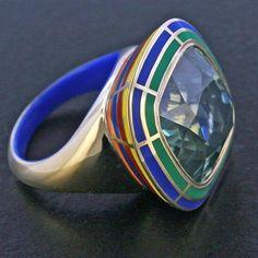Rainbow ring!  #taffin #taffinjewelry #jamestaffindegivenchy #jamesdegivenchy