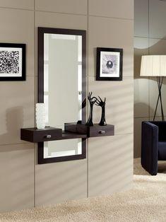 Home Stairs Design, Home Design Diy, Living Room Mirrors, Living Room Decor, Bedroom Decor, Curio Cabinet Decor, Small Dressing Rooms, Decoration Hall, Etagere Design
