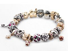 Pandora charm bracelet! Except in silver with my favourite charms and colours!