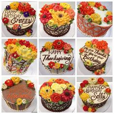 Repost whiteflowercakeshoppe So many fall themed cakes went out ou Repost whiteflowercakeshoppe So many fall themed cakes went out our doors for Thanksgiving! Source by jbhireable Fall Theme Cakes, Fall Birthday Cakes, Birthday Cake With Flowers, Fall Cakes, Themed Cakes, Cake Decorating Designs, Cake Decorating Techniques, White Flower Cake Shoppe, Cake Piping