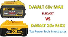 A discussion comparing DeWalt 20V MAX batteries to DeWalt 20V/60V MAX FlexVolt batteries. How does FlexVolt work? Dewalt Cordless Tools, Power To Weight Ratio, Old Tools, Generators, High Voltage, Water Flow, Electrical Engineering, Conductors
