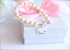 Real Pearls Sterling Silver Personalized by BabysFirstKeepsake