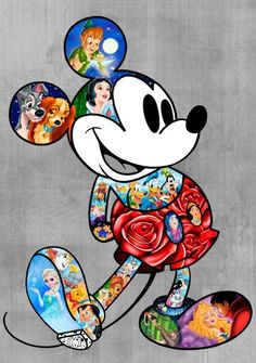 Mickey Mouse and the rest of the og Disney fam.
