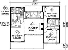 Simple House Plan with Stunning Views - 80642PM floor plan - Main Level