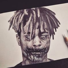 XXX Tentaciombie @heroinfather #xxxtentacion #x #tentacion #heroinfather #freex #zombie #666 #undead #underground #drawing #pencil #art #artwork #artist #marcooberhofer