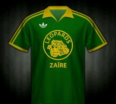 Zaire home shirt for the 1974 World Cup Finals.