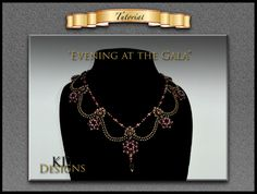 "Tutorial/pattern for ""Evening at the Gala"" by KDDesignsbyKDevine on Etsy"