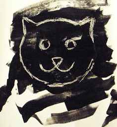 Mom's Tot School: Kitten's First Full Moon-Crayon Resist