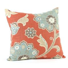 Pillow #7: Spice & Aqua Ankara Pillow, from Kirkland's. $14.99