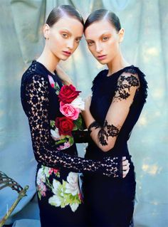 Codie Young and Rosemary by Nicole Bentley for Vogue Australia
