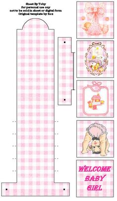 Waterfall card topper - baby girl