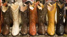 Botas típicas del atuendo de cowboy
