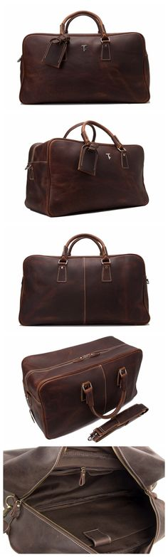 HANDCRAFTED VINTAGE GENUINE LEATHER TRAVEL BAG LEATHER DUFFLE HOLDALL WEEKEND BAG LUGGAGE BAG
