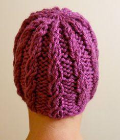 Free Knitting Pattern - Hats: Braided Hope Hat