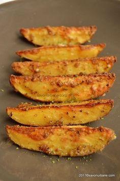 cartofi la tava la cuptor picanti cu ierburi aromatice si parmezan