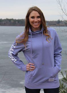 Lakegirl Violet Funnel Neck sweatshirt