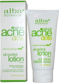 unisex alba botanica acne dote oil control lotion