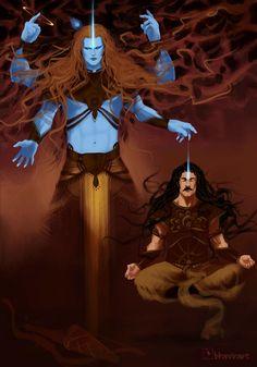 Krishna Painting, Krishna Art, Lord Shiva Pics, Lord Shiva Hd Wallpaper, Indian Art Paintings, Art Station, Epic Art, Art Reference, Mythology