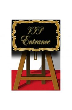 V.I.P Entrance Sign Cutout -  Las Vegas Casino Party Ideas