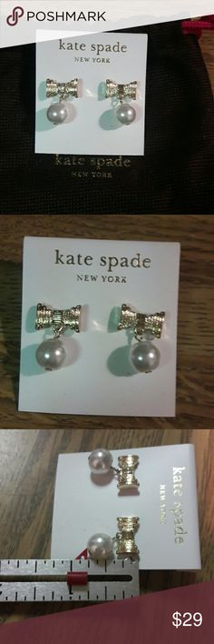 Wk-End Only Sale ** Kate Spade Earrings *** NWOT Cute and perfect for any occasion. Comes with a dust bag. Jewelry Earrings
