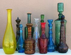 vintage glass decanters