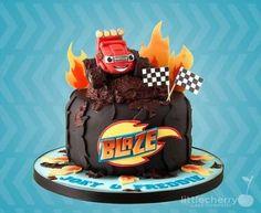 New birthday cake baby boy monster trucks 35 Ideas Torta Blaze, Bolo Blaze, Blaze Cakes, Blaze Birthday Cake, Baby Boy Birthday Cake, Cake Baby, 4th Birthday, Monster Truck Kids, Monster Truck Birthday