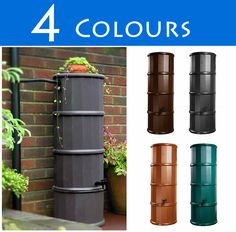 110l Slimline Polybutt Water Butt :: Water Butts Direct  pinned by www.ukgardening-directory.co.uk
