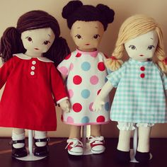 """bybido - 18"""" dolls from my favorite sewing book ever!  Wonderful doll patterns"""