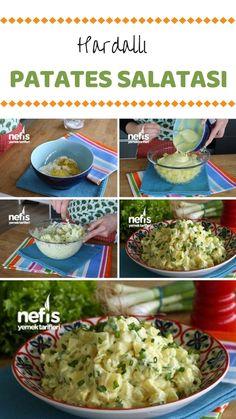 Hardallı Patates Salatası (Az Malzemeli) Tarifi nasıl yapılır? 3.439 kişinin defterindeki bu tarifin resimli anlatımı ve deneyenlerin fotoğrafları burada. Yazar: Yasemin Atalar