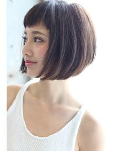 Heavy bangs are cute. Bob in casual mode Bob Hairstyles For Fine Hair, Hairstyles With Bangs, Pretty Hairstyles, Medium Hair Cuts, Short Hair Cuts, Short Hair Styles, Edgy Short Haircuts, Great Hair, Hair Inspiration